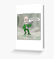 Being John Malkovich + The Muppet Show Greeting Card