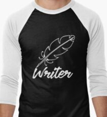 Writer with feather quill T-Shirt