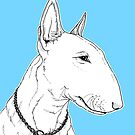 Bull Terrier Dog Portrait by Adam Regester