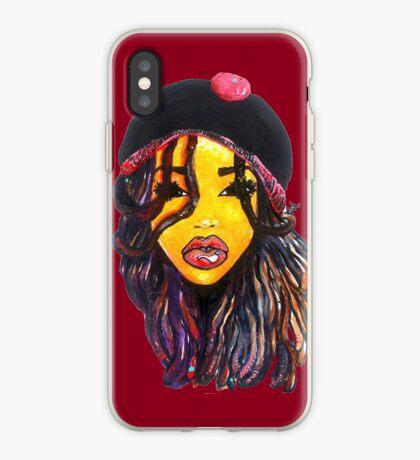 Jamaican Women Dope Dreads Locs natürliches Haar Rasta Girl iPhone-Hülle & Cover