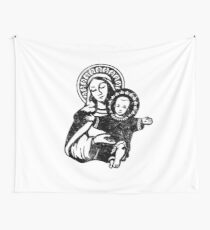Mary the Madonna with Baby Jesus Catholic Artwork Wall Tapestry