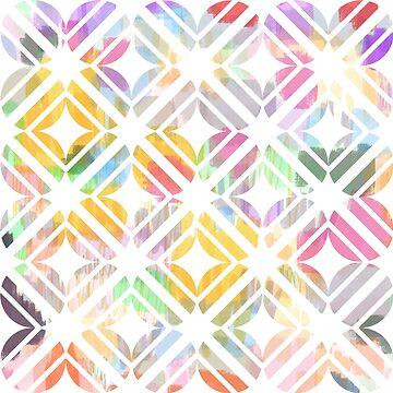 Tiles over tulips by PlacewearDesign