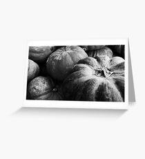 Pumpkins B&W  Greeting Card