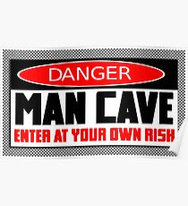 Danger Man Cave Poster