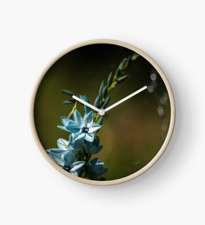Blue Flowers really do Exist! Clock