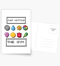 Pokemon hitting the gym Postcards