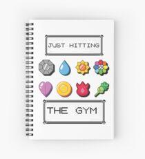 Pokemon im Fitnessstudio Spiralblock