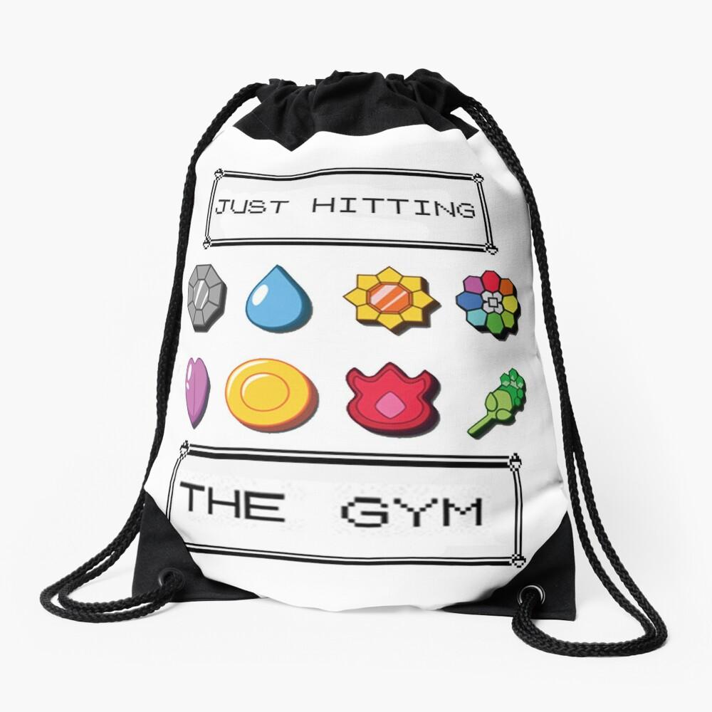 Pokemon hitting the gym Drawstring Bag