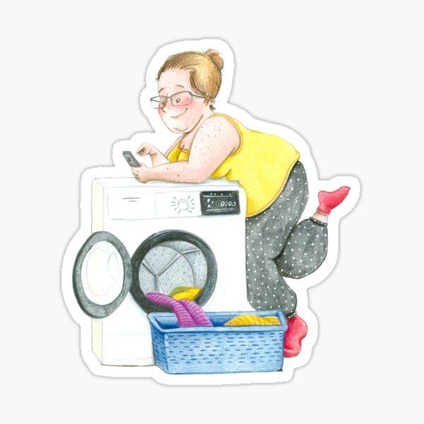 Laundryday Sticker
