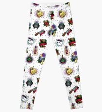 Spooky Cute Halloween Pattern Leggings