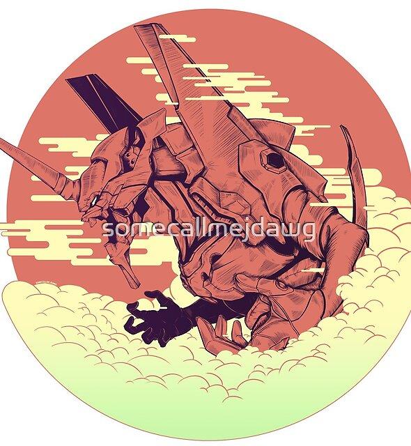 Unit 01 [Neon Genesis Evangelion] by somecallmejdawg
