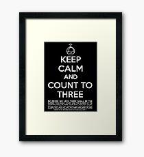 Keep calm and kill the bunny. Framed Print