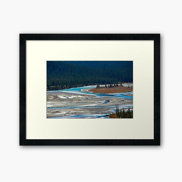 Saskatchewan River Crossing Framed Art Print