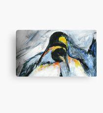 Penguins acrylics on paper  Canvas Print