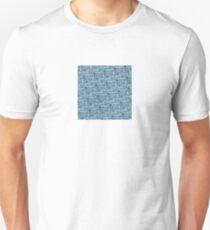 Blue Camera Pattern T-Shirt