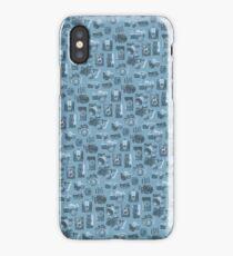 Blue Camera Pattern iPhone Case