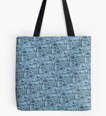 Blue Camera Pattern Tote Bag