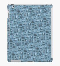 Blue Camera Pattern iPad Case/Skin