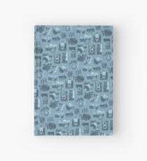 Blue Camera Pattern Hardcover Journal