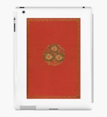 Red cloth book cover with metallic bouquet of flowers iPad Case/Skin