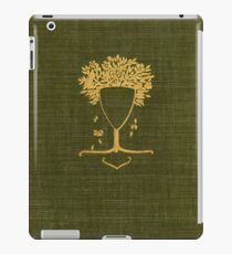 Green cloth book cover with gold tree glass design iPad Case/Skin