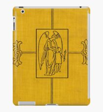 Yellow cloth book cover with angel and child design iPad Case/Skin