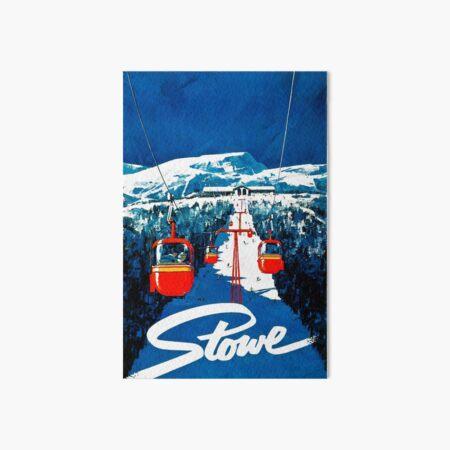 Vintage Stowe gondola winter travel ski poster Art Board Print