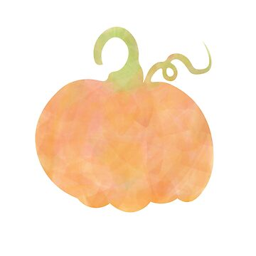Watercolor Pumpkin Outline by Lavenna