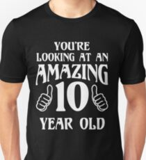 Birthday 10 year old Boy Girl Gift T-Shirt