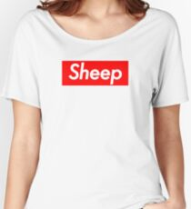Sheep Squad (Supreme Parody) Women's Relaxed Fit T-Shirt