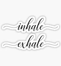 Inhale | Exhale Sticker