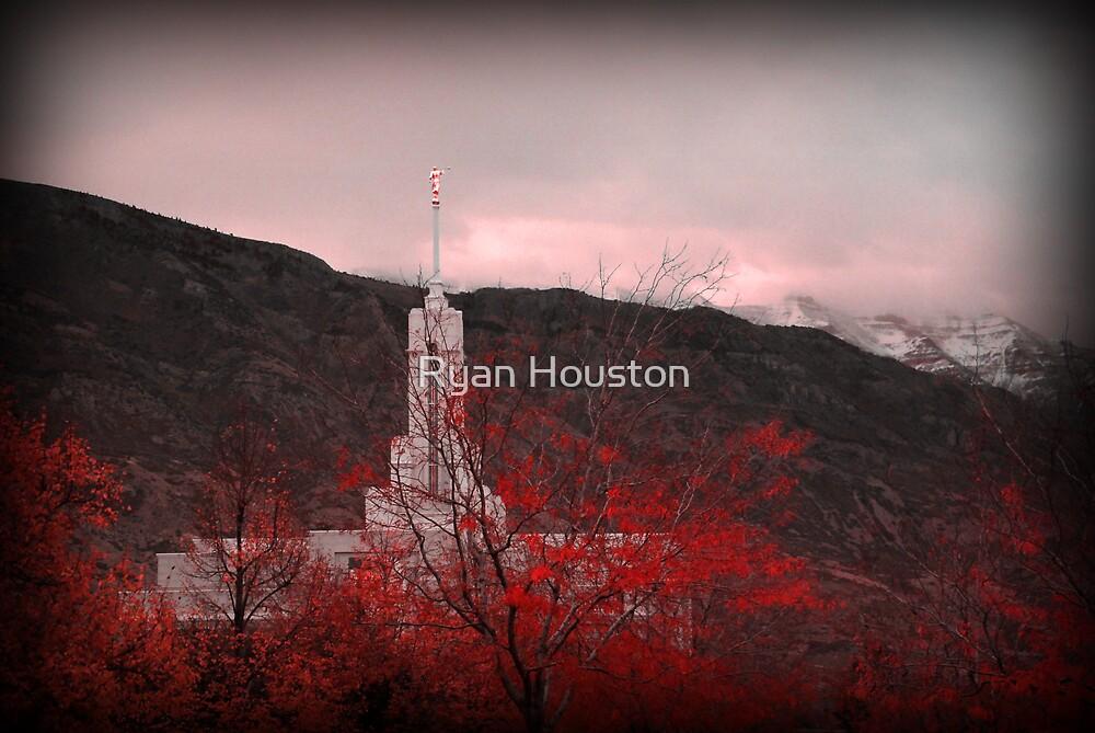 Mount Timpanogos Temple - Red by Ryan Houston