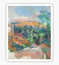 Paul Cézanne - The Bend in the Road (1900) Sticker