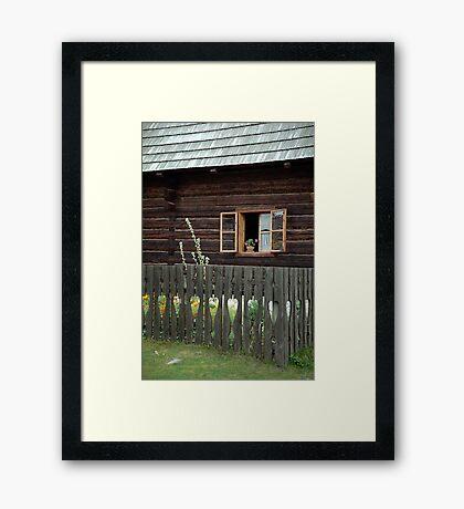 Liptov house, Pribylina, Slovakia Framed Print