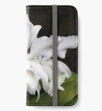 Elegant Orchids ~ Cluster of Three iPhone Wallet/Case/Skin