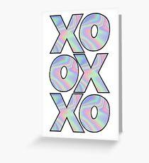 Xoxo holographic Greeting Card