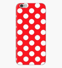 Red White Dots iPhone Case
