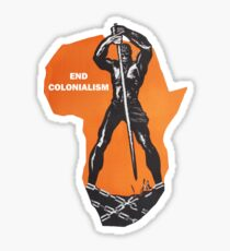 End Colonialism Sticker