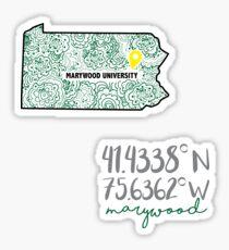 Marywood Sticker Sticker