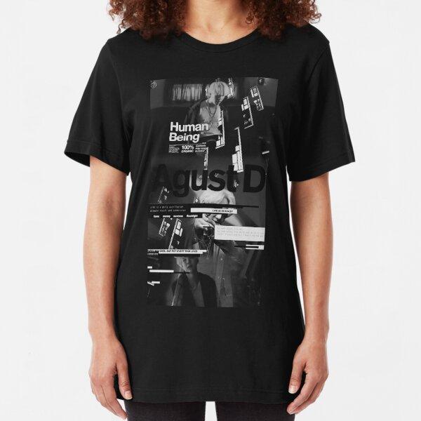 Agust D black Slim Fit T-Shirt