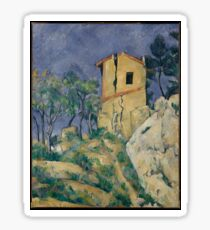 Paul Cézanne - The House with the Cracked Walls (1894) Sticker