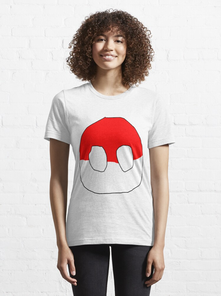 Alternate view of Polandball - Can into space - Countryball Essential T-Shirt