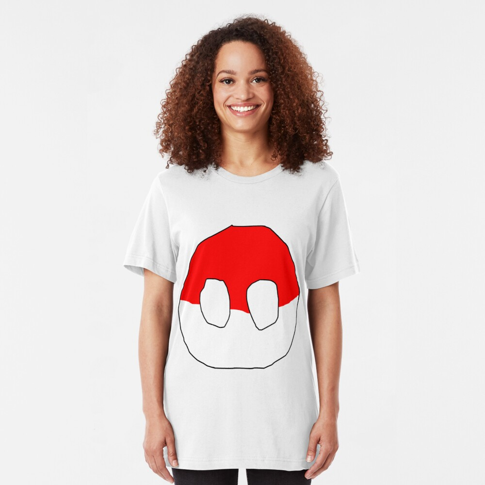 Polandball - Can into space - Countryball Slim Fit T-Shirt