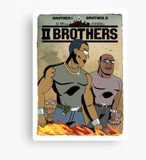 TWO BROTHERS!! - www.shirtdorks.com Canvas Print