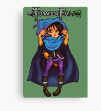 Towerfall Blue Archer Canvas Print