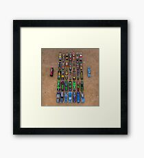 World Race game cars  Framed Print