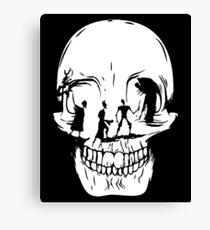 Tale of Three Brothers Skull Canvas Print
