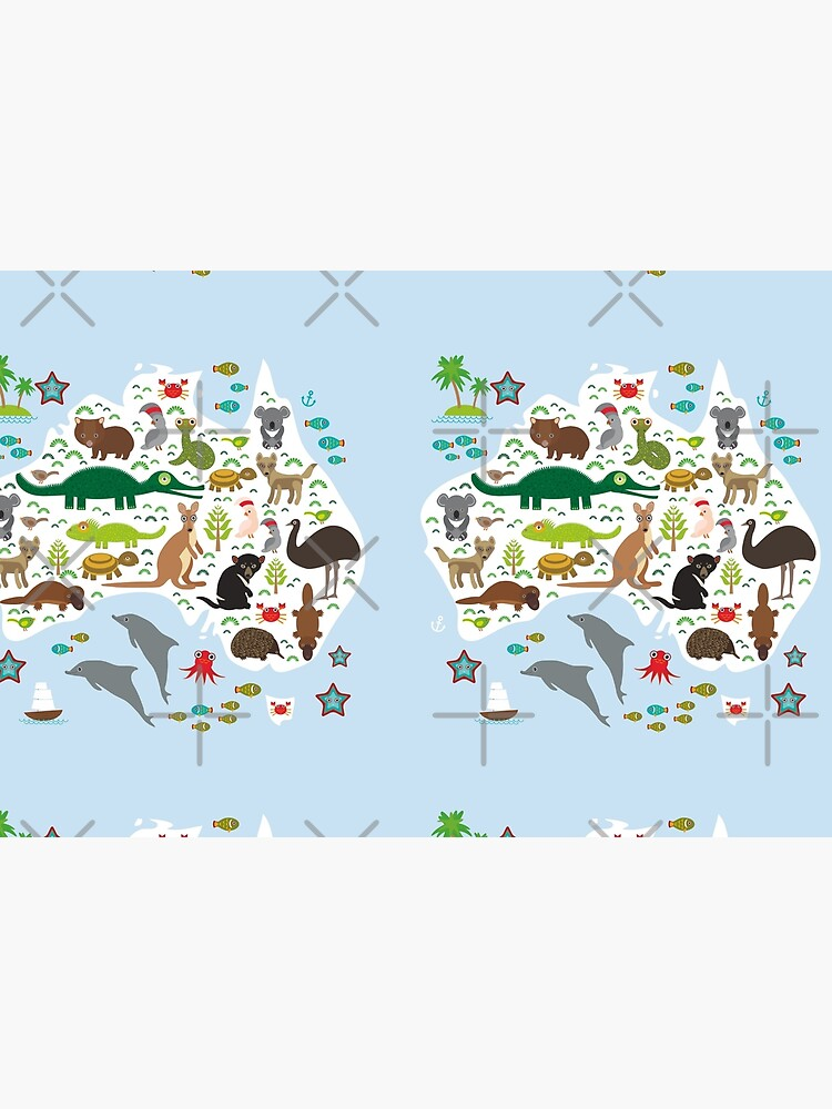 Mapa de animales australianos y océano de EkaterinaP