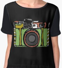 Vintage film camera  Women's Chiffon Top