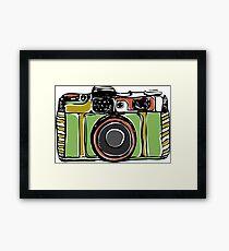 Vintage film camera  Framed Print